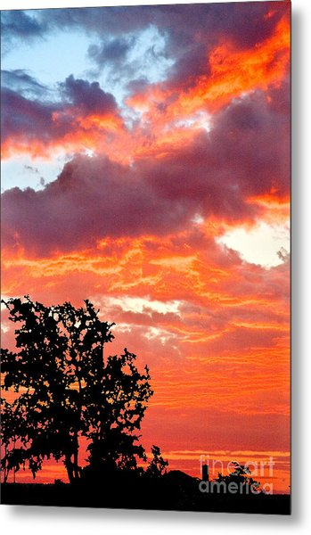 Metal Print featuring the photograph Clouds On Fire by Mae Wertz