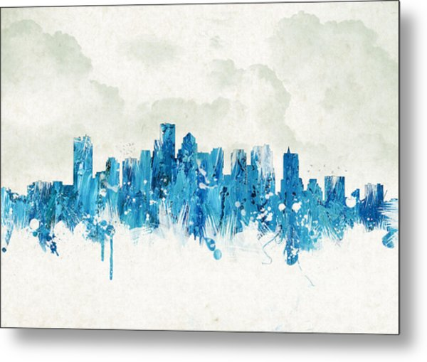 Clouds Over Boston Massachusetts Usa Metal Print