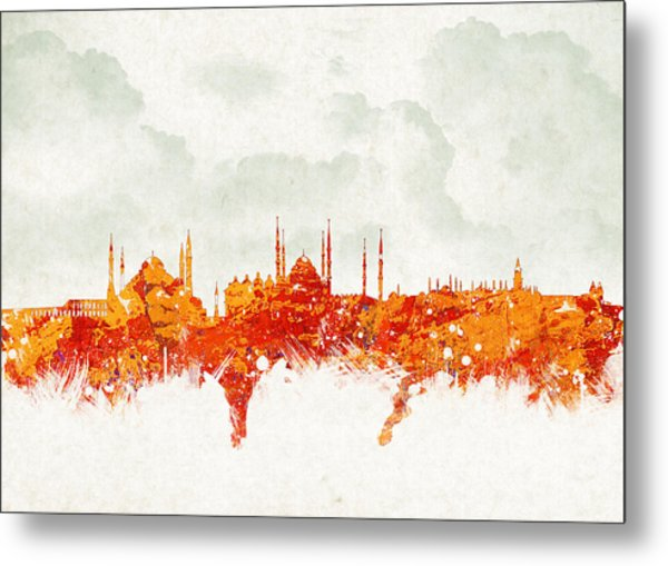 Clouds Over Istanbul Turkey Metal Print