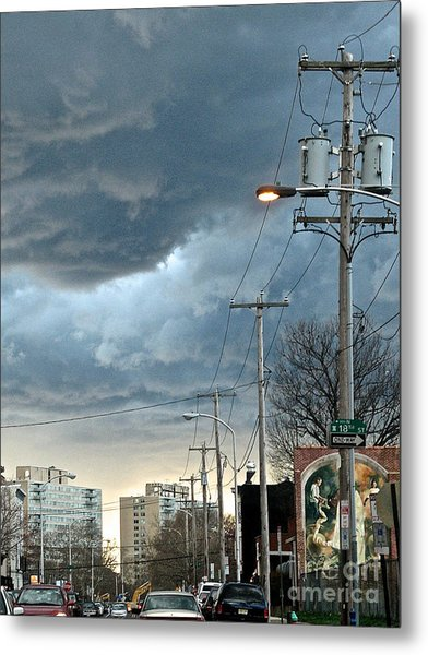 Clouds Over Philadelphia Metal Print