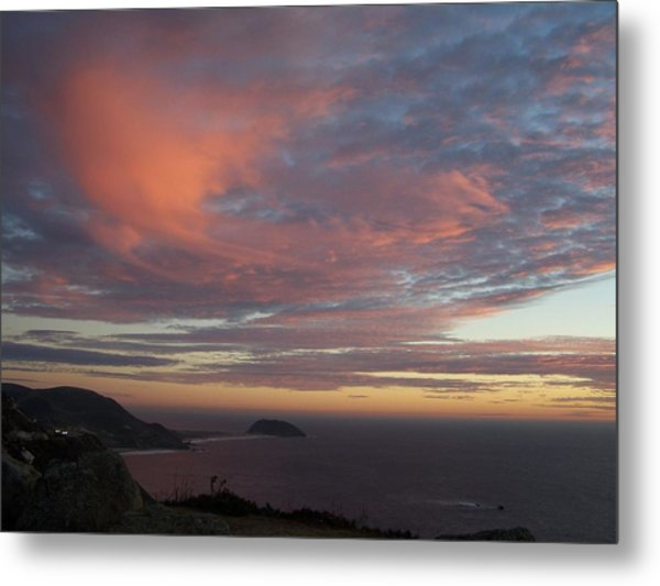 Clouds Over Pt Sur Metal Print