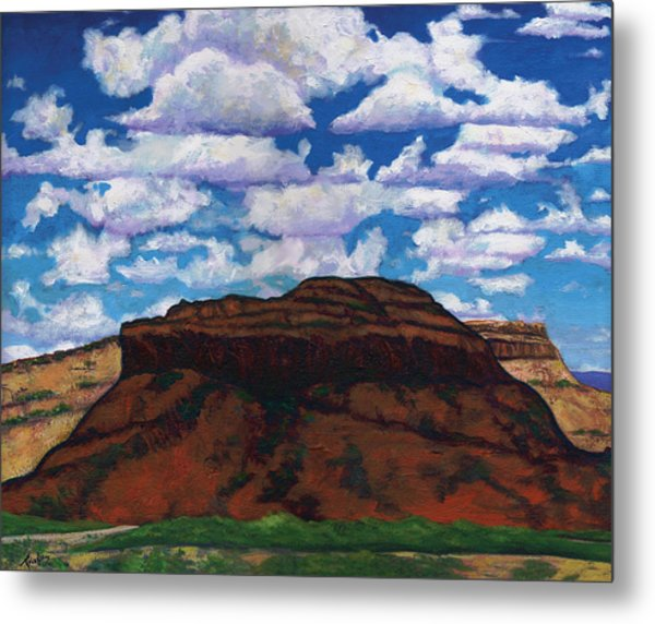 Clouds Over Red Mesa Metal Print by Joe  Triano