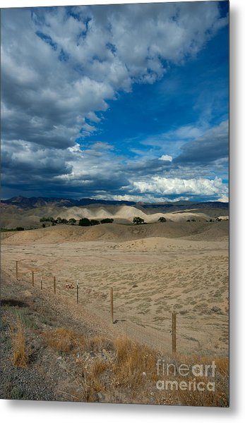 Metal Print featuring the photograph Clouds Over The Adobes by Angela Moyer