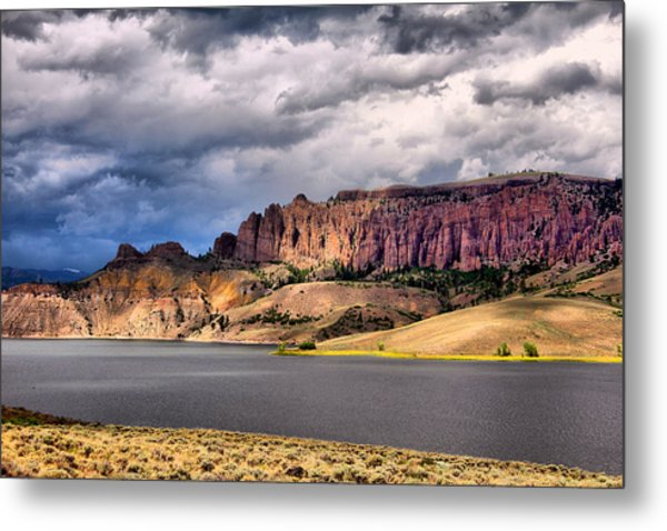 Clouds Over The Dillon Pinnacles Metal Print