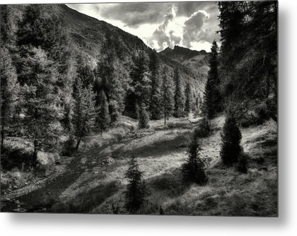 Clouds Over The Mountainscape Metal Print