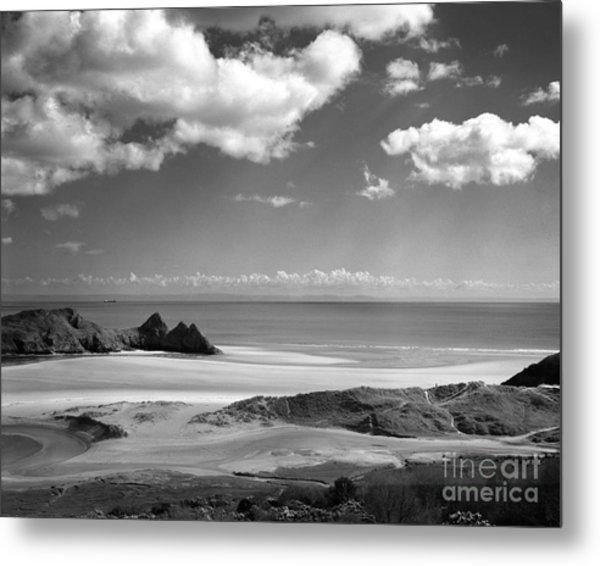 Cloudscape At Three Cliffs Metal Print