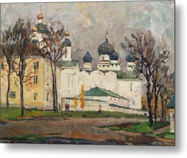 Cloudy At Uglich Metal Print