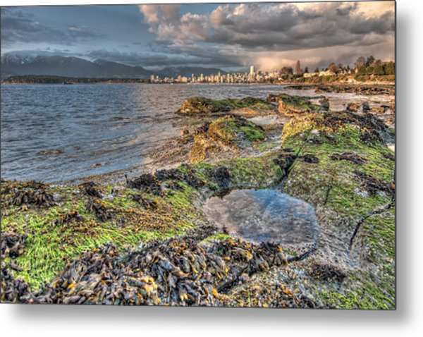 Cloudy In Downtown Vancouver Metal Print