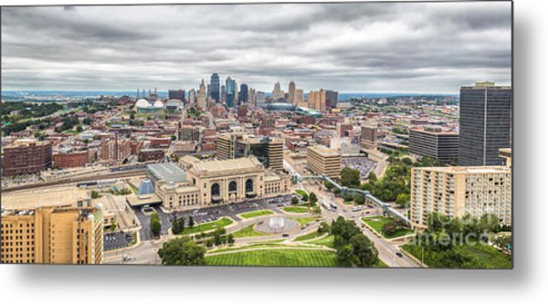 Cloudy Sky Over Kansas City Metal Print