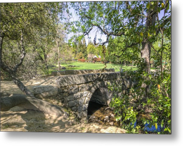 Clover Valley Park Bridge Metal Print