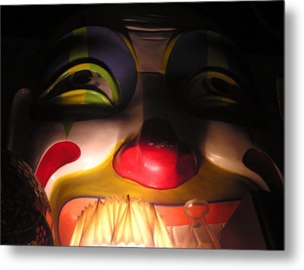 Clown In The Antique Shop Metal Print
