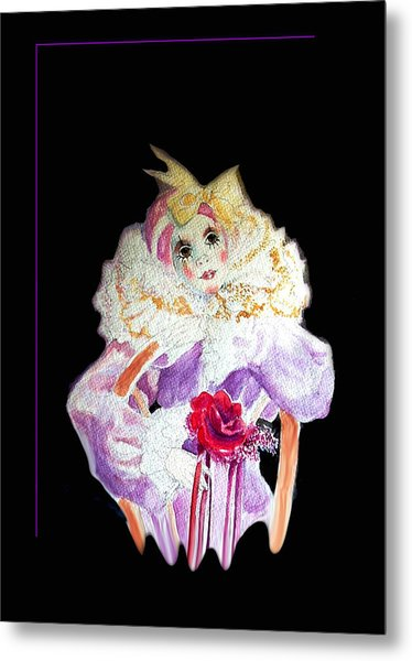 Clown Thinking Blank For You Metal Print