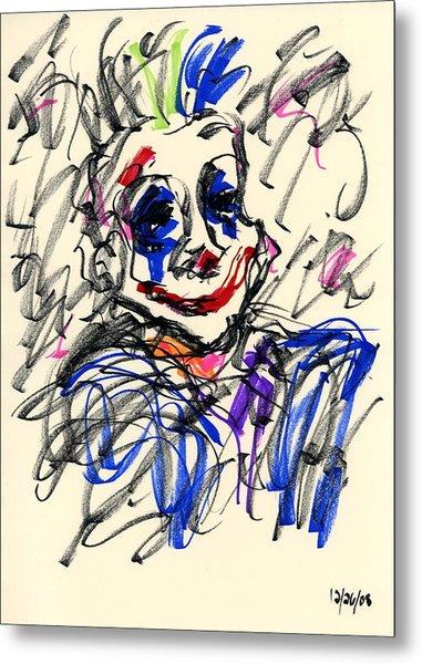 Clown Thug I Metal Print