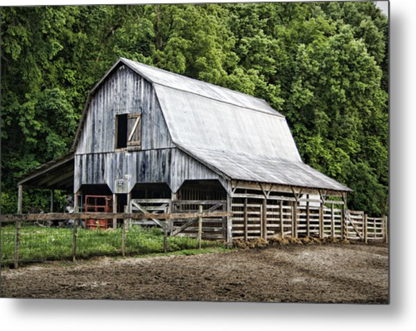 Clubhouse Road Barn Metal Print