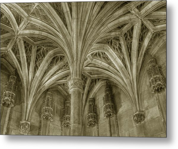 Cluny Museum Ceiling Detail Metal Print