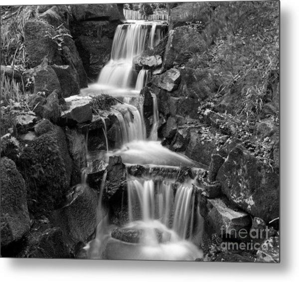 Clyne Park Waterfall Metal Print