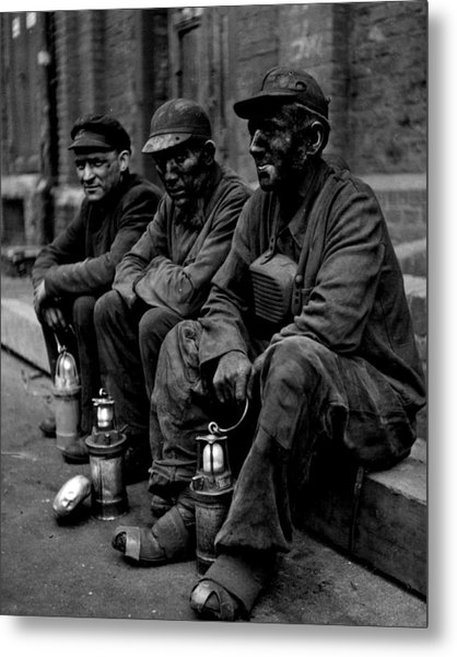 Coal Miners Dirty Job Vintage  Metal Print by Retro Images Archive