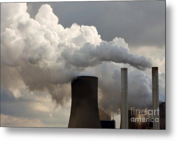 Coal Power Station Blasting Away Metal Print