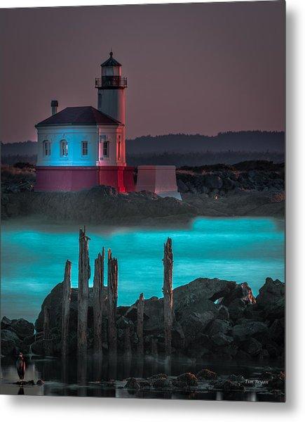 Coaquille Lighthouse Metal Print
