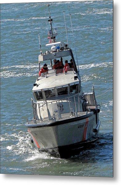 Coast Guard At Depot Bay Metal Print