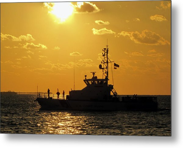 Coast Guard In Paradise - Key West Metal Print