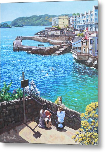 Coast Of Plymouth City Uk Metal Print