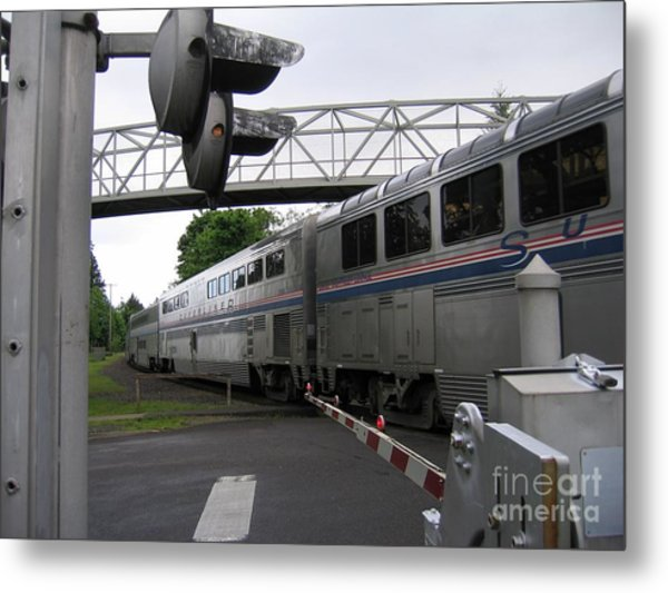 Coast Starlight In Salem Metal Print
