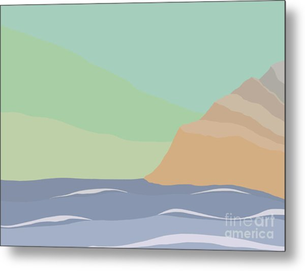 Coastal Bank Metal Print
