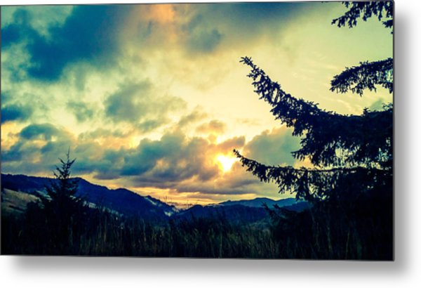 Coastal Mountain Sunrise IIi Metal Print
