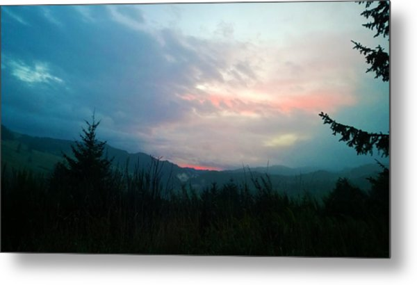 Coastal Mountain Sunrise V Metal Print