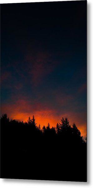 Coastal Mountain Sunrise Vi Metal Print