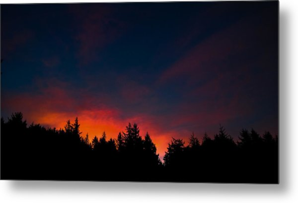 Coastal Mountain Sunrise Vii Metal Print