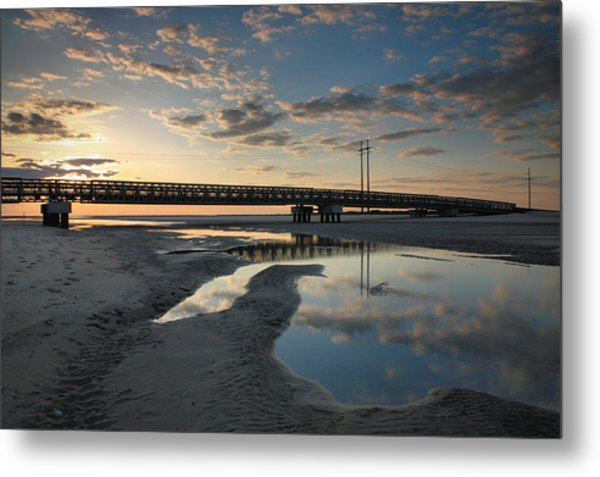 Coastal Ponds And Bridge I Metal Print by Steven Ainsworth
