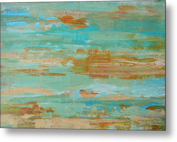Coastal Reflections I Metal Print by Filomena Booth