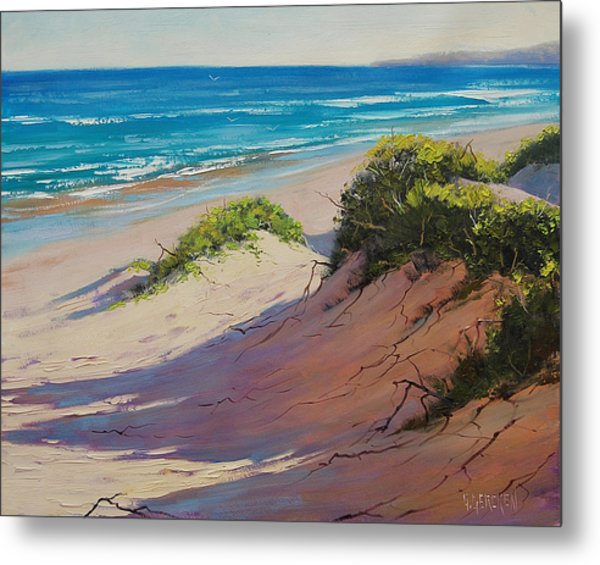 Coastal Sand Metal Print