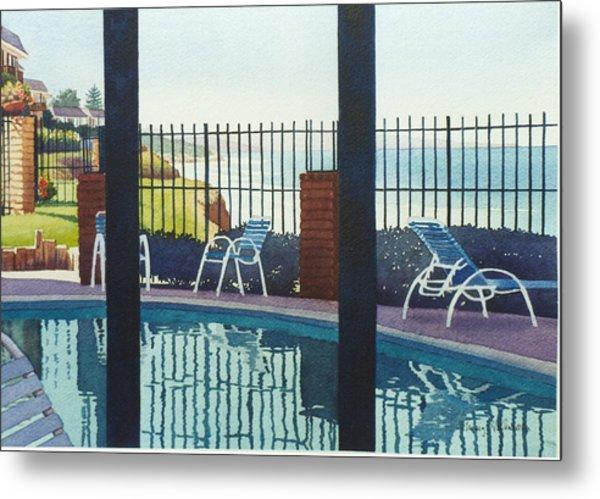 Coastal Swimming Pool Metal Print