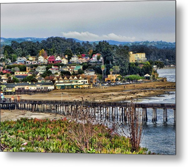 California Coastal Town Metal Print