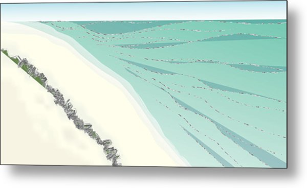 Coastal Wash Metal Print