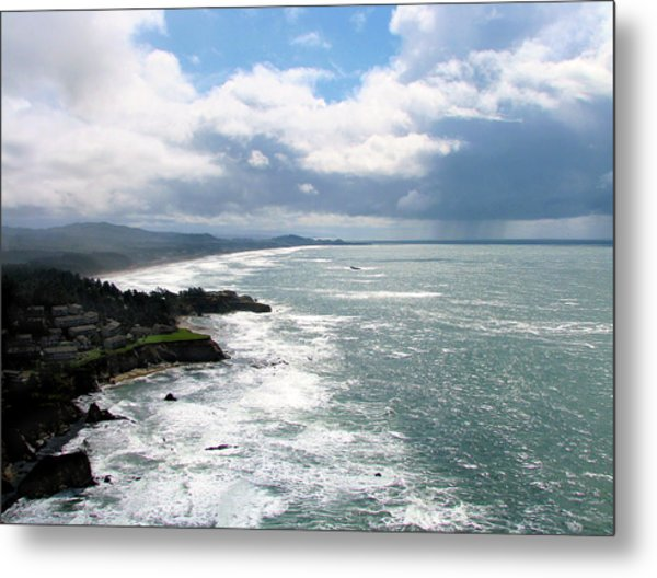 Coastline At Salishan Metal Print
