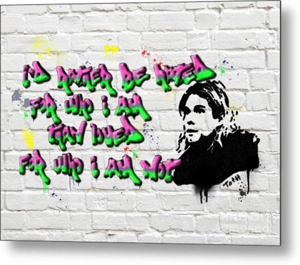 Cobain Graffiti Metal Print