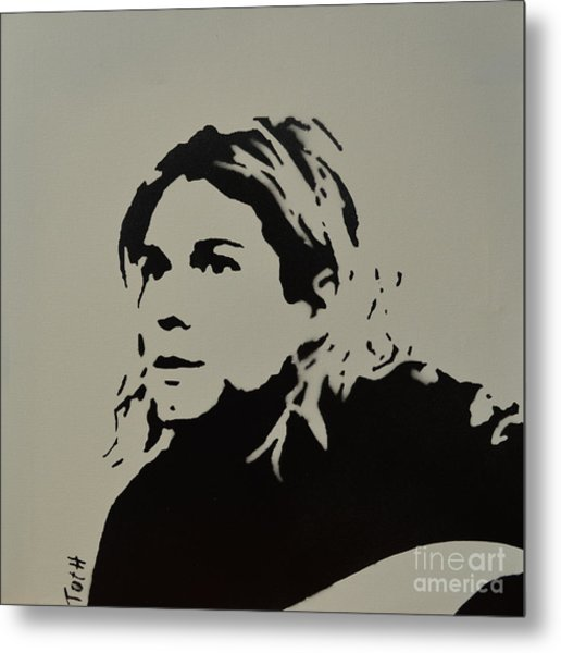 Cobain Spray Art Metal Print