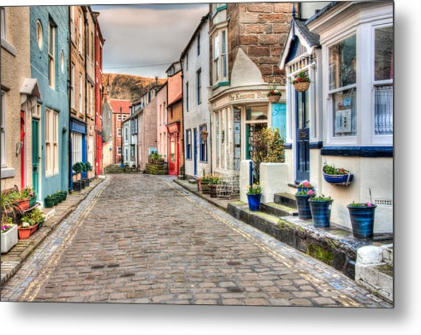 Cobbled Street Metal Print