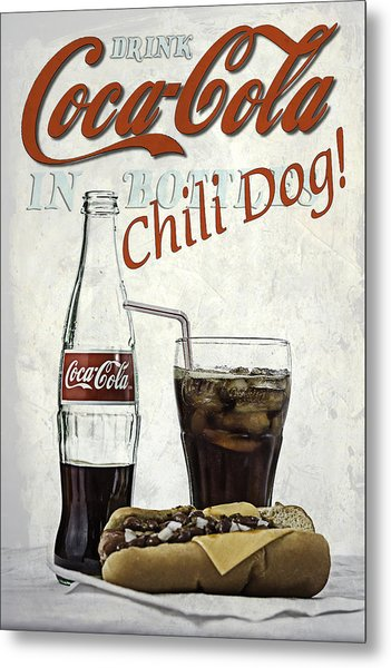 Coca-cola And Chili Dog Metal Print