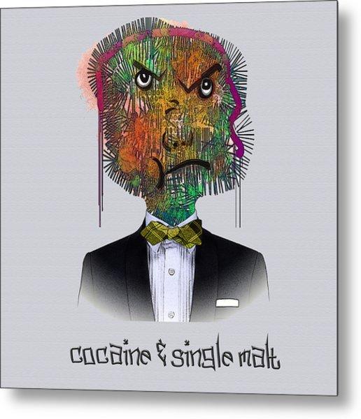 Cocaine And Single Malt Metal Print