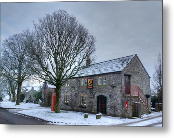 Cock And Pullet Pub Metal Print