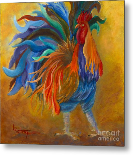 Cock-of-the-walk Metal Print by Lynn Rattray
