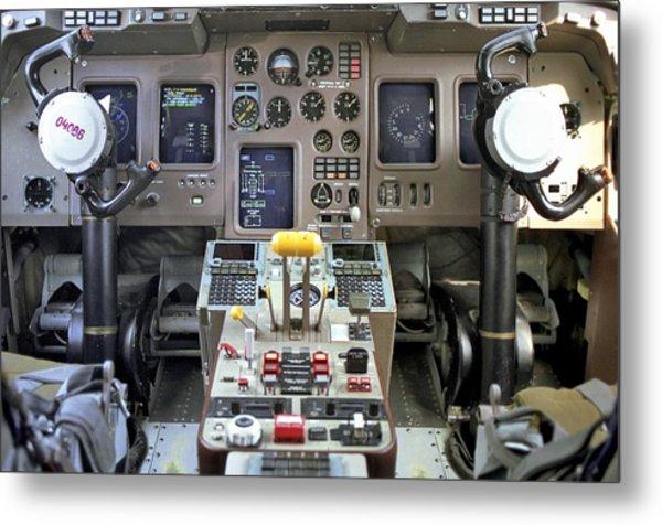 Cockpit Of Ilyushin Il-114 Airliner Metal Print