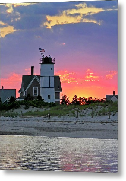 Cocktail Hour At Sandy Neck Lighthouse Metal Print