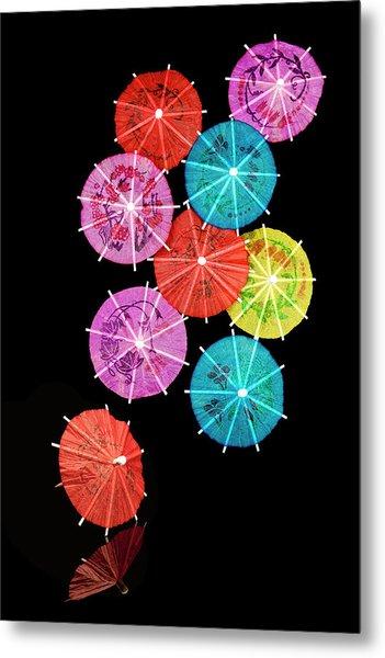 Cocktail Umbrellas Viii Metal Print