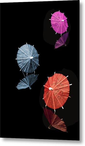 Cocktail Umbrellas Xi Metal Print by Tom Mc Nemar